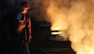 l'emploi dans la métallurgie devrait baisser de 5%.
