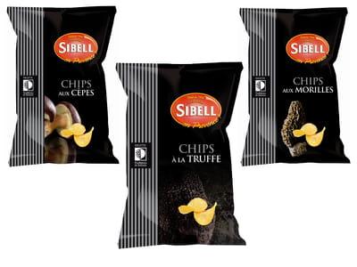 les chips aux champignons de truffières de rabasse.