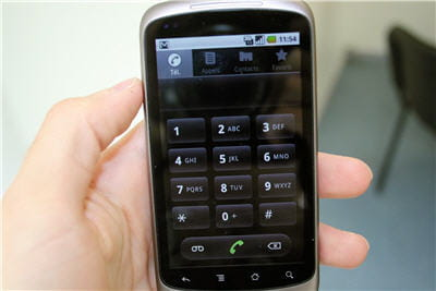 la fonction téléphone sous le google nexus one