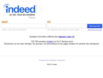indeed.fr enregistrait plus de 1,3 million de visiteurs uniques en avril 2012