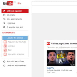 page d'accueil youtube france.
