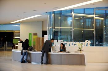l'accueil, au siège français (et européen)de microsoft, près de paris, à