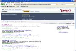 copie d'écran du moteur de recherche de yahoo