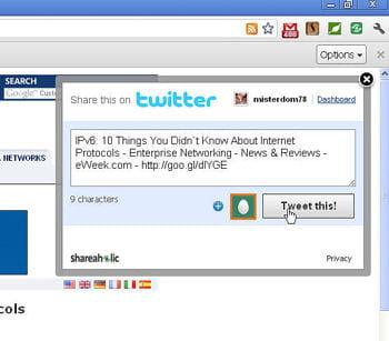 un clic droit dans chrome permet également d'injecter les pages dans les sites