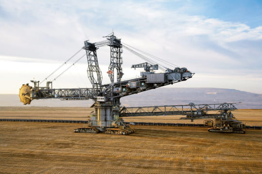 Mine de lignite