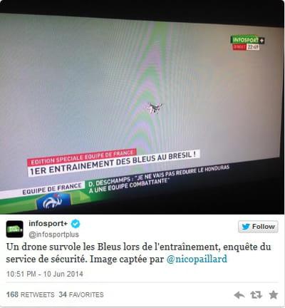 tweet drone infosport