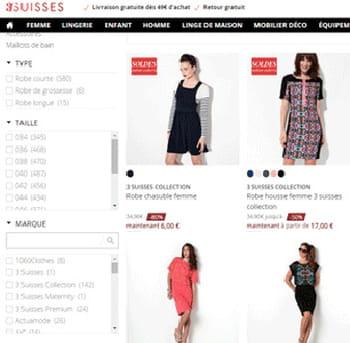 capture du site 3suisses.fr.