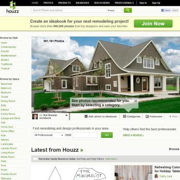 houzz, site et communauté d'architecture d'intérieur