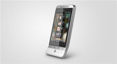 un écran de 8cm de large, qui affiche une résolution 320x480
