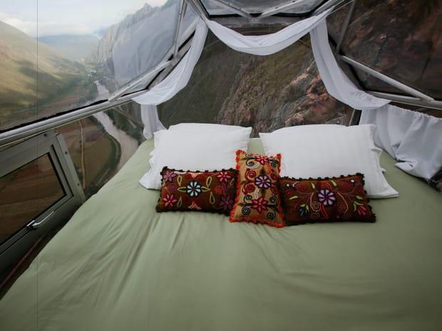 Les six fenêtres offrent une vue panoramique