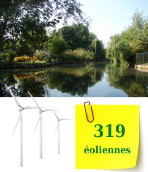 la deuxième région de france qui compte le plus d'éoliennes demeure la picardie.