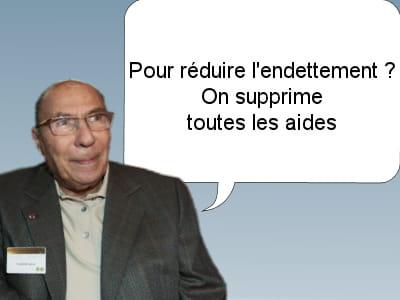 serge dassault, sénateur ump, le 15 février 2011.