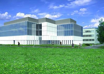 voici à quoi l'ibm nano technology center ressemble de l'extérieur.