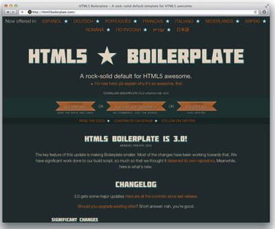 figure 5-8 : html5 boilerplate.