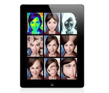 l'application photo booth sur ios 4.3