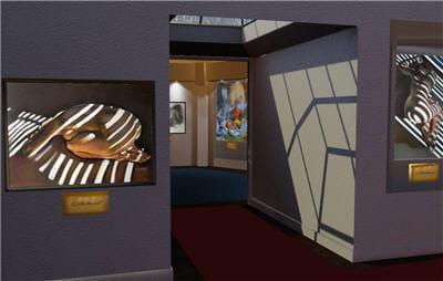 une exposition de l'artiste cécile buffet, visitée en 3d