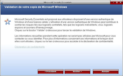 n'espérez même pas en profiter sur une version pirate de windows.