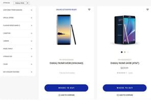 Galaxy Note 8 : Samsung le présente par erreur sur son store américain