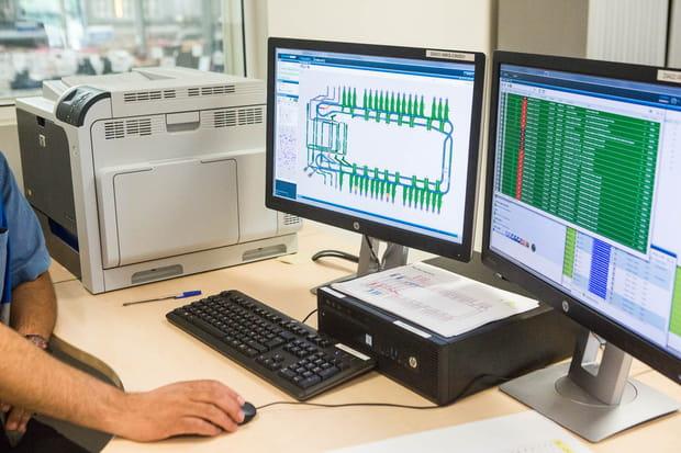 Un poste de contrôle donne une visualisation de l'ensemble du système