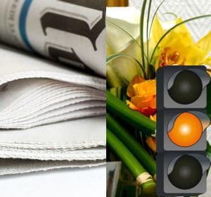 des baisses succinctes pour les budgets fleurs et journaux.