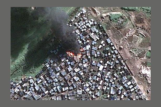 Incendie en ville