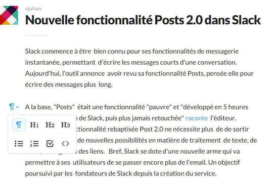 """Slack revoit sa fonctionnalité """"Posts"""" : pour mieux enterrer l'e-mail ?"""