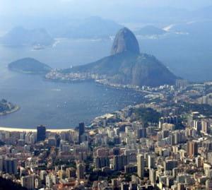 une vue de rio, au brésil.