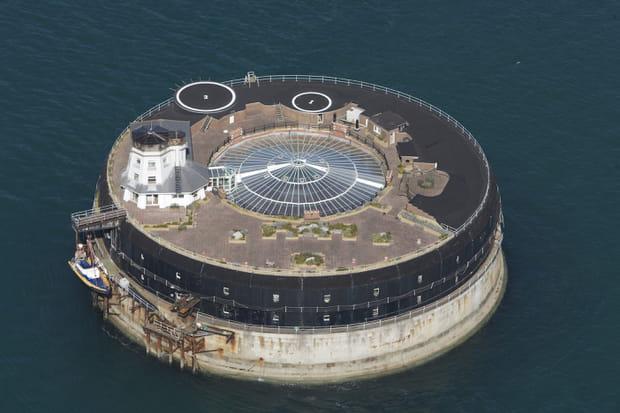 Le fort Fort No Man's Land, vu du ciel