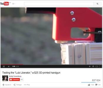 test du 'liberator', un modèle de pistolet réalisé à partir d'une imprimante 3d
