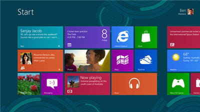 product win8 startscreen page