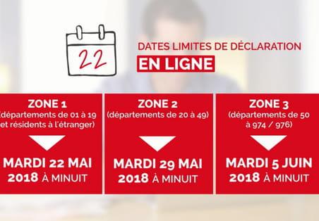 Date de déclaration d'impôt 2018: les dates limites par département