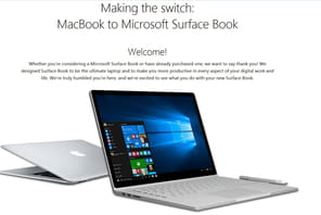 Microsoft vous guide pour basculer du MacBook au Surface Book