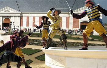 les mousquetaires de richelieu, une des animations du parc.