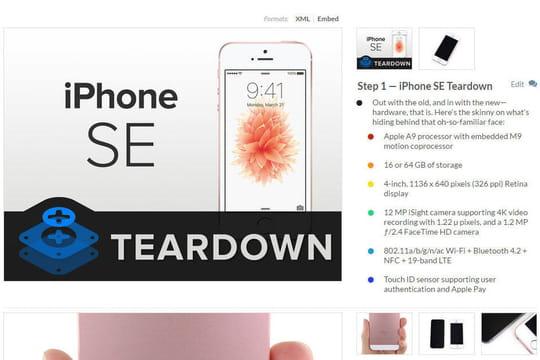 Le démontage de l'iPhone SE ne révèle pas que des similarités avec l'iPhone 6S