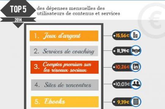 Infographie : le marché des contenus et services payants sur Internet