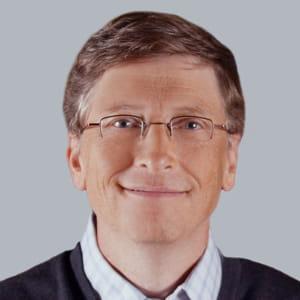 bill gates, fondateur de microsoft.