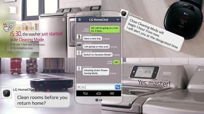 la messagerie instantanée du futur selon lg.