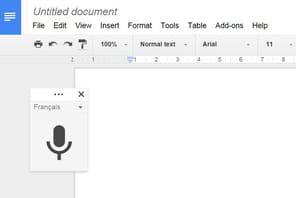 Google Docs s'étend à la saisie vocale