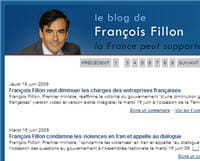 capture d'écran du blog de françois fillon.