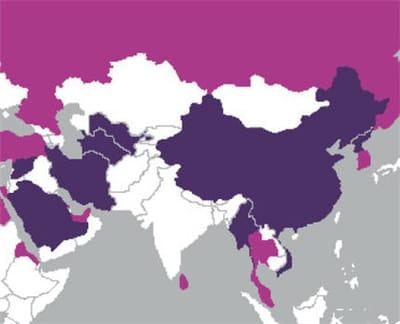 9 des 10 pays qui censurent le plus internet se situent en asie.