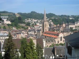une vue de la ville de tulle, en corrèze.