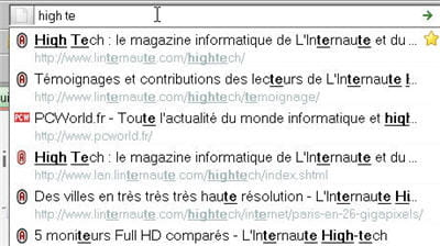 la barre d'adresse de firefox se nomme the awesome bar
