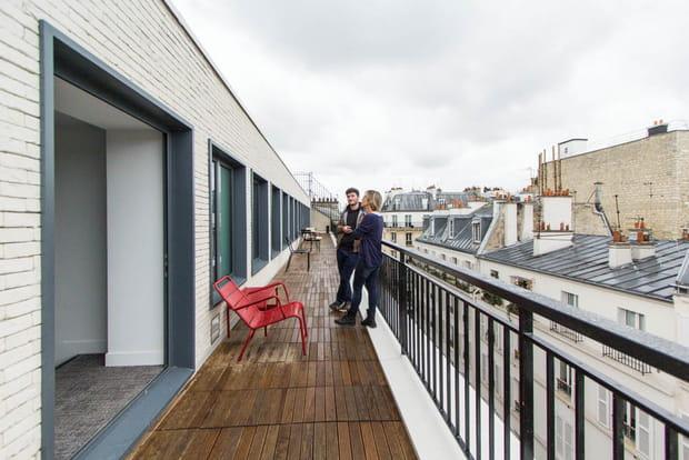 Une vue dégagée sur les toits de la capitale