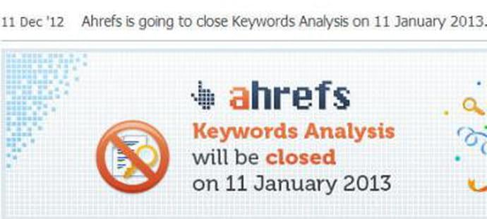 SEO : Ahrefs se voit aussi contraint d'arrêter l'analyse de mot clé