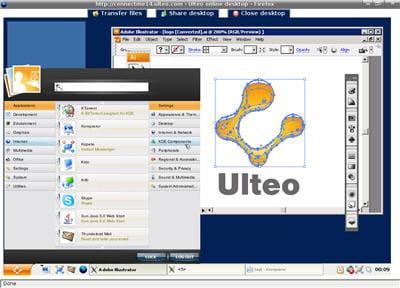 la fonction online desktop du projet ulteo