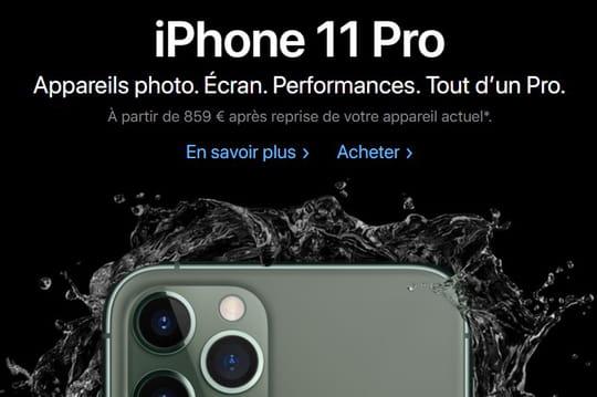 Les iPhone 11et iPhone 11Pro sont disponibles à la vente