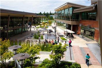 le campus du siège de microsoft, à redmond, dans l'etat de washington.
