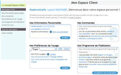 le compte client sur voyages-sncf.fr
