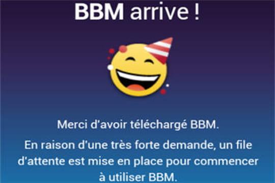 BlackBerry Messenger pour iOS et Android pas disponible pour tous