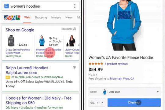 """""""Purchases on Google"""" : un bouton Acheter débarque sur le mobile"""